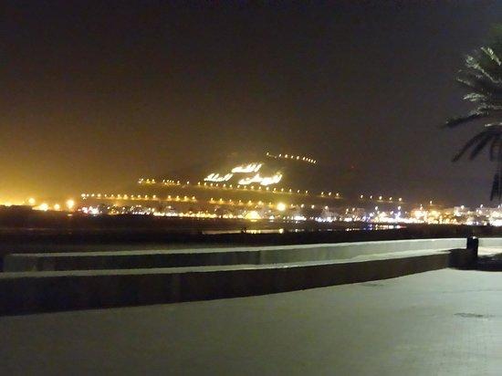 Golden Beach Appart-Hotel : agadir at beach at night