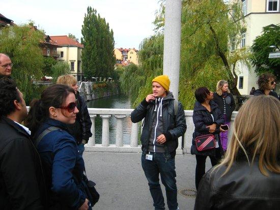 Ljubljana Free Tour : Tine in action