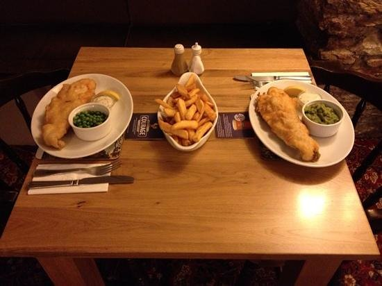 The Volunteer Inn: fish and chips