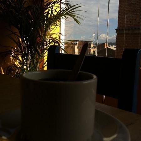 Churup Guest House: un cafe con vista al huascaran!