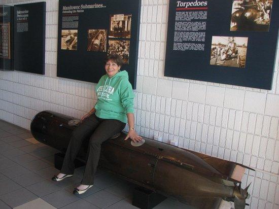 Wisconsin Maritime Museum: USS Cobia torpedo & wife