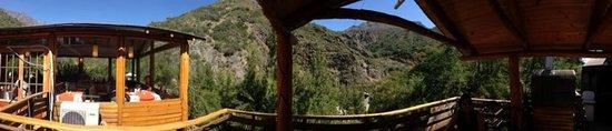 San Alfonso, Chili : Terraza del restaurant