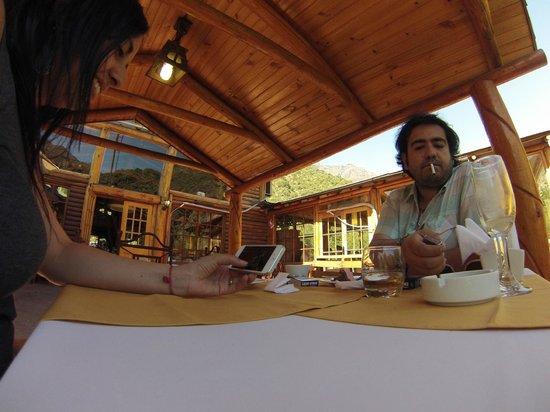 Santuario del Rio : Terraza del restaurant