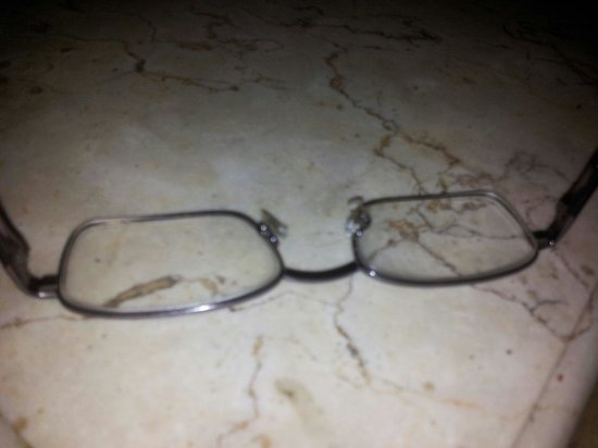 Anom Beach Inn Bungalows: The rubber chewn off on my glasses. Rats.