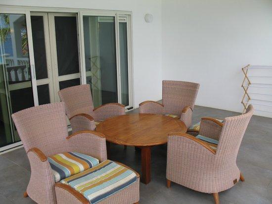 Belmar Oceanfront  Apartments: Patio furniture room #17