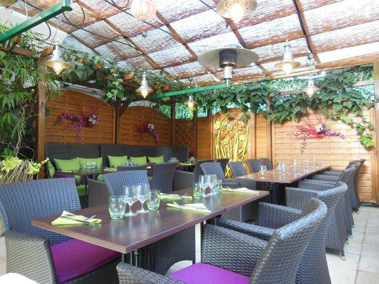 la terrasse couverte de la Pergola - Photo de La Pergola ...