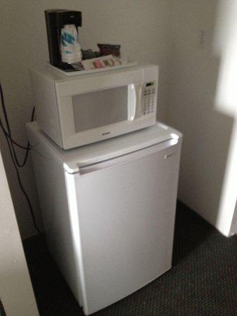 Sea Bay Hotel: Microwave & Refrigerator