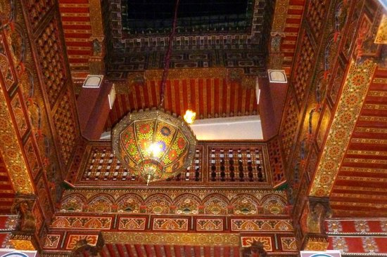 Riad La Bague de Kenza: looking up from first floor - the riad was like a work of art