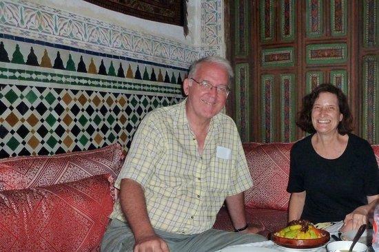 Riad La Bague de Kenza : beautiful first floor dining room