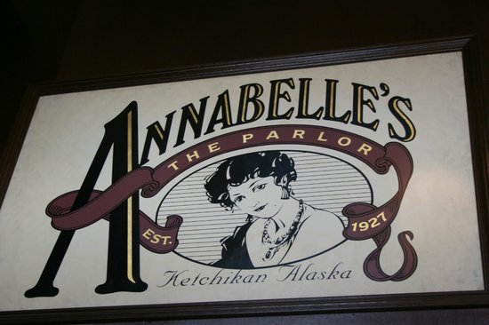 Annabelle's Famous Keg and Chowder House: Annabelle's sign
