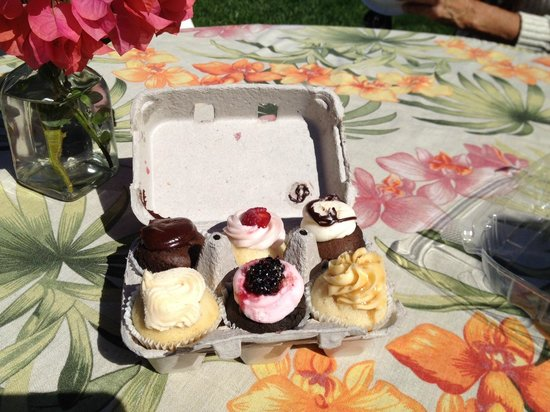 DeeTours of Santa Barbara: Birthday cupcakes complete with candles