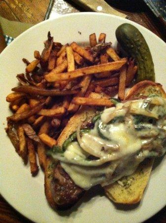 Gracie's: opened face steak sandwich