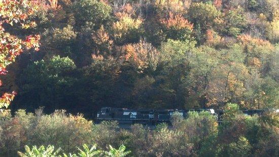 Horseshoe Curve National Historic Landmark : One of the trains that passed us.