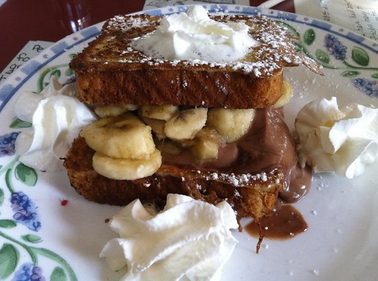 Peach's: special-chocolate banana stuffed french toast