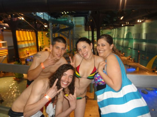 Hotel Cascada: On 2nd level of waterpark