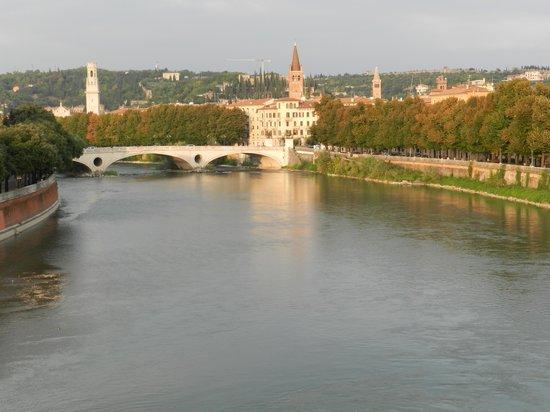 Verona Tours: View of Verona and the Adige from the Ponte Pietra bridge