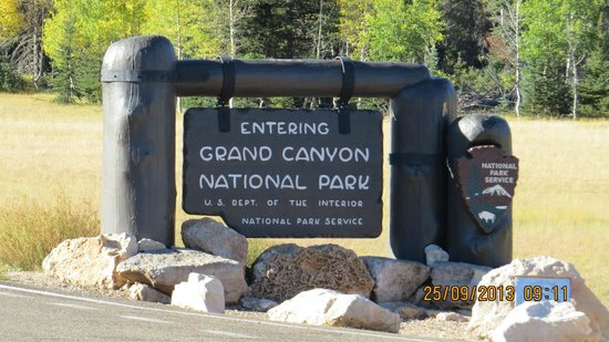 North Rim Campground: Entrance to GCNP