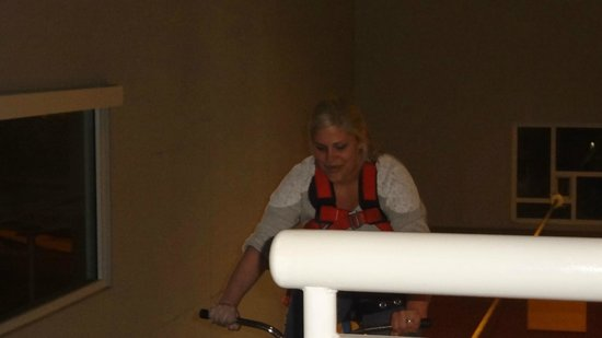Explora Science Center and Children's Museum of Albuquerque: Doing the tightrope bike