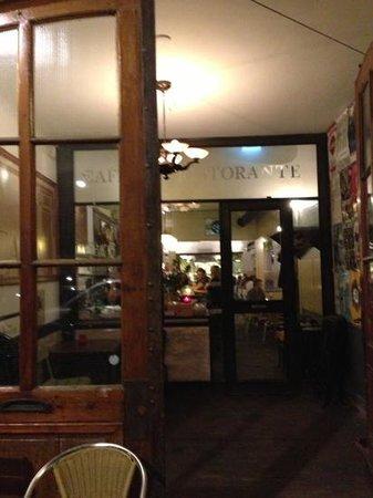 Toscanini restaurant from the sidewalk