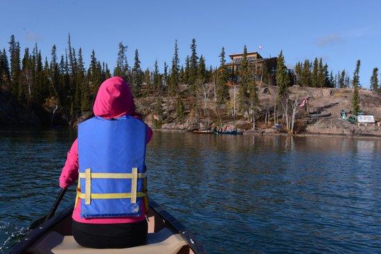 Blachford Lake Lodge: canoe