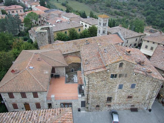 Fattoria Tregole : View of Castelina from atop the castle. On a clear day you can see the ocean!