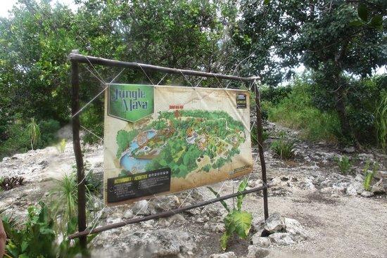 Mayan Jungle Tour: map of the park