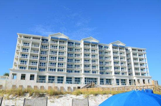 Margaritaville Beach Hotel: Rear of the hotel (Facing the Gulf)