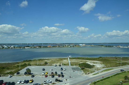 Margaritaville Beach Hotel : View from our hotel room (Sabine Bay)