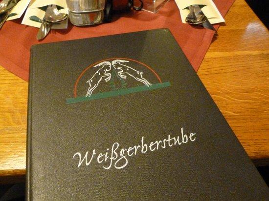 Weissgerber Stube im Suennhof : The menu