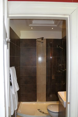 Ashtree House Hotel: The bathroom was adequate and modern.
