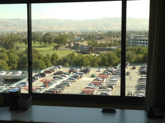 Hyatt Regency Santa Clara: View sitting at the work area looking out the window
