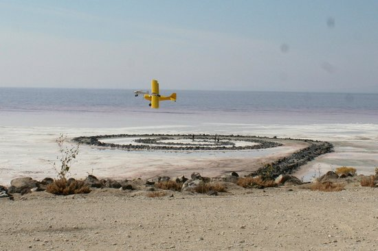 Spiral Jetty: Planes Over the Jetty