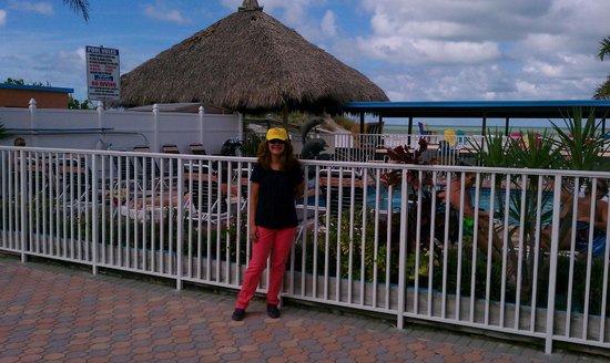 Plaza Beach Hotel - Beachfront Resort : By the pool with my Plaza Beach Resort hat