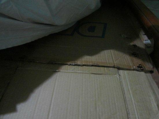 Sigiri Queens Rest Guest House : cardboard beds
