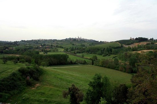 Agriturismo Poggiacolle: Blick auf San Gimignano