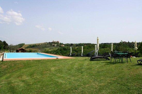 Agriturismo Poggiacolle: Pool und Grünanlage