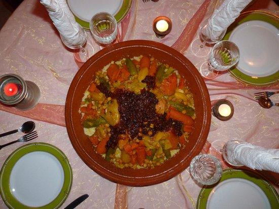 Riad Farniente: Cous cous en el Riad