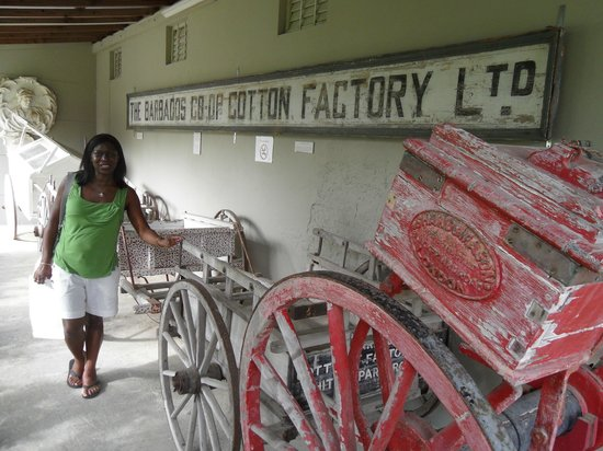 Barbados Museum & Historical Society : Cotton factory sign at Museum