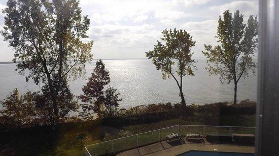 Auberge du Lac Saint-Pierre : vue de notre chambre au 3e