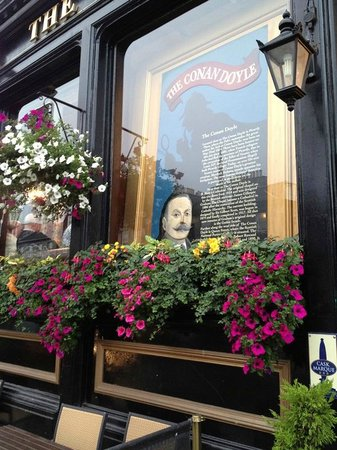The Guest Room: The Conan Doyle pub, reasonably priced, great atmosphere, a few minutes walk away.