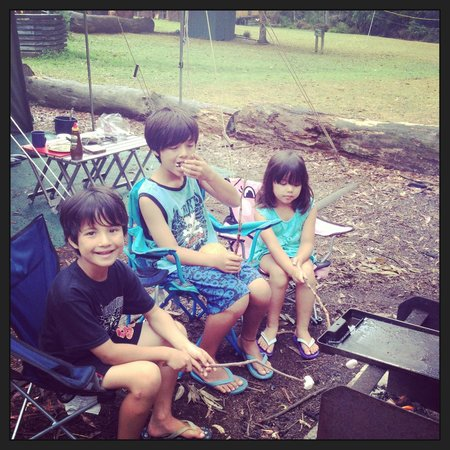 Durras Lake North Holiday Park : Kids enjoying the great outdoors
