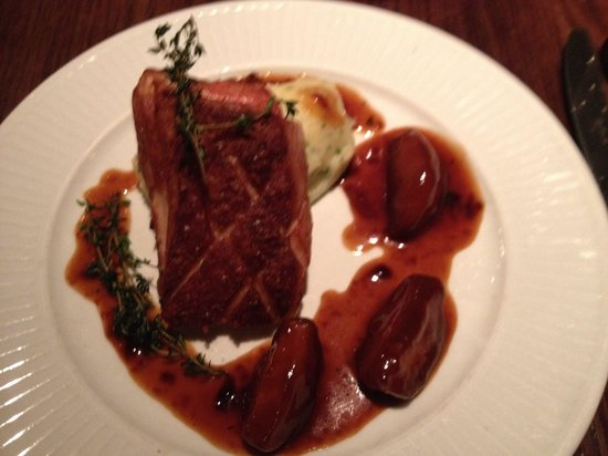 Cote Brasserie - Cardiff Bay : Pork belly with apples mmmmmmm