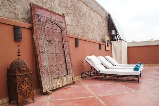 Riad Alnadine: Terrasse