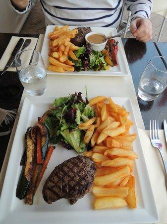Ola Le Reve : pavé de boeuf double frite !!