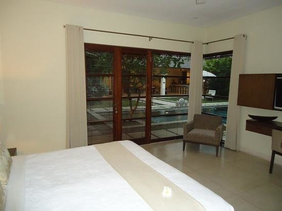 Nyaman Villas: view from one of the bedrooms in the 4 bedroom villa