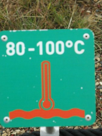 Hotel Geysir : Ground temperature in Celsius