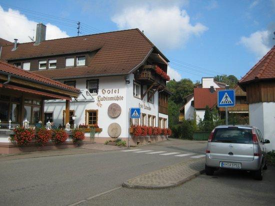 Hotel Ludinmuhle: Hotel von der Strasse her.
