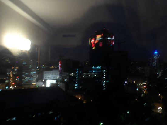 Premier Hotel Rus : View from our room at night