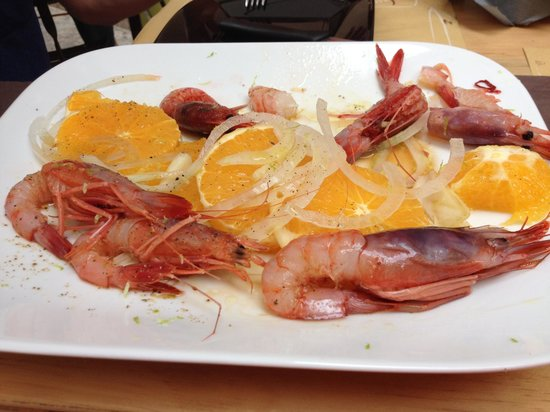 Clandestino ad Ortigia: The raw but tasty prawns