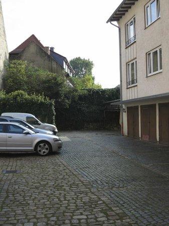 Goldener Engel: Parking behind the hotel